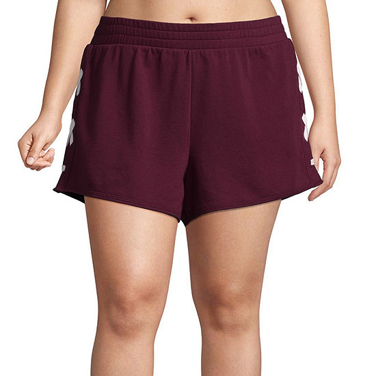 Flirtitude Lace Up Pull On Shorts Juniors Plus