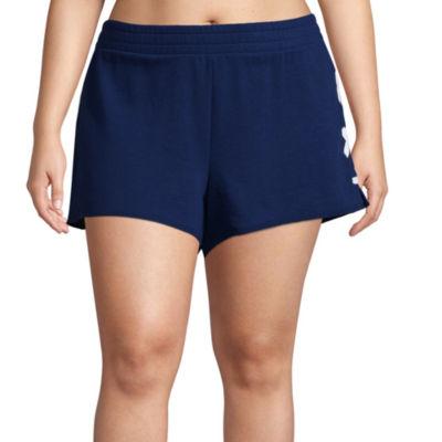 Flirtitude Lace Up Pull On Shorts - Juniors Plus