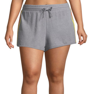 Flirtitude French Terry Pull-On Shorts-Juniors Plus