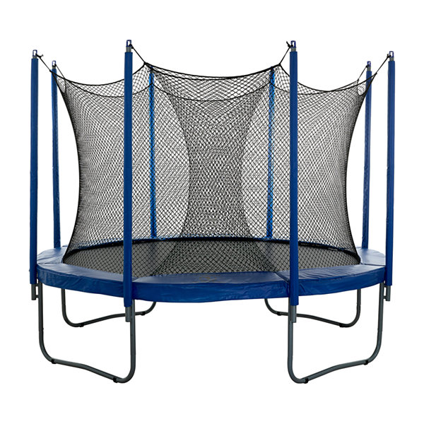 Upper Bounce Universal Trampoline Net to Enclose aVariety of Smaller to Midsize Trampoline Frames -Use for multiple amount of poles - Bungees Included!