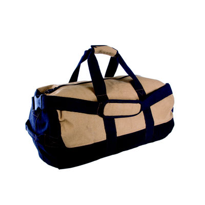 """Stansport Two-Tone Canvas Duffle Bag with Zipper - (14""""x 24"""")"""