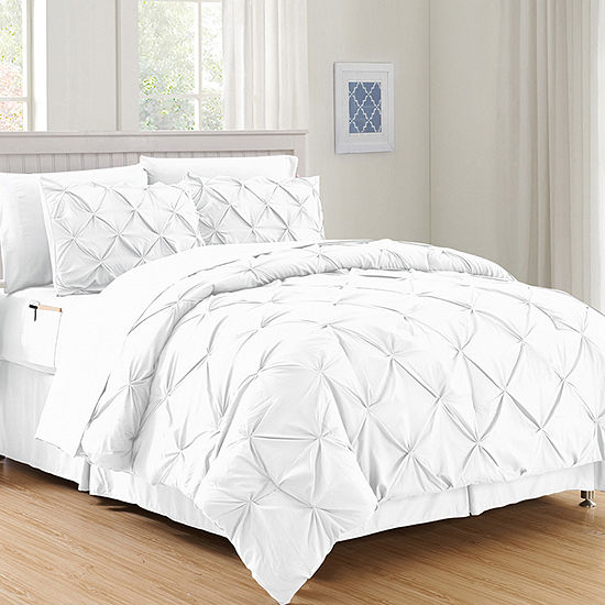 Elegant Comfort Silky Soft Complete Set Includes Bed Sheet With Double Sided Storage Pockets Jcpenney