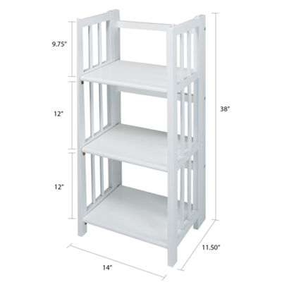 "3-Shelf Folding Bookcase 14"" Wide"