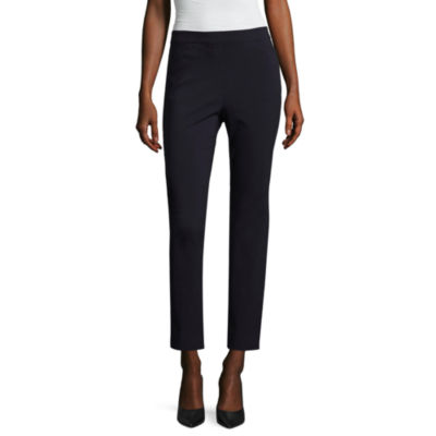 "Liz Claiborne 27"" Pull-On Slim Fit Ankle Pants"