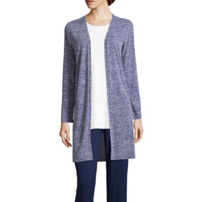 Liz Claiborne Studio Long Sleeve Short Cardigan