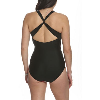 Sun and Sea Blossom Twist Back One Piece Swimsuit