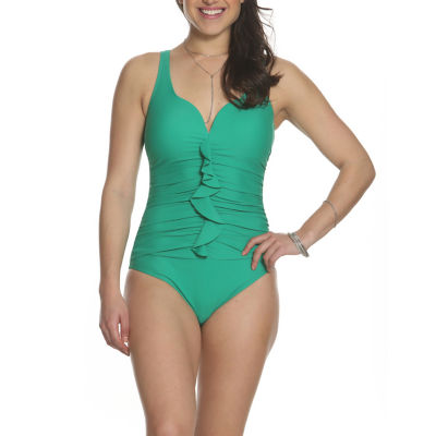Sun and Sea Woodstock Ruffle Front One Piece Swimsuit