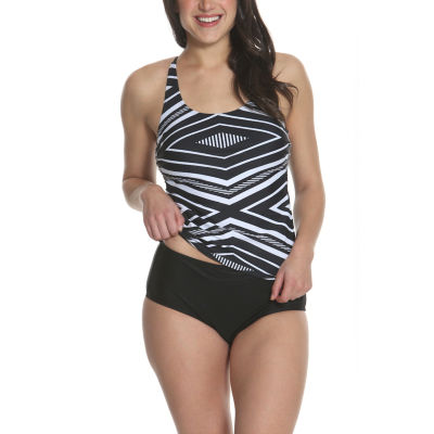 Sun and Sea Trading Company Ebony and Ivory Tankini - Plus