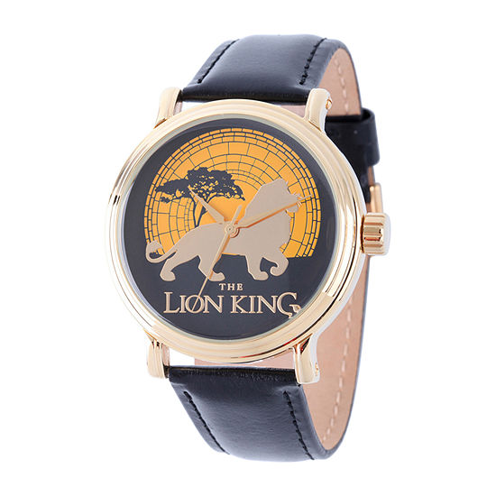 Disney Lion Guard Mens Black Strap Watch W002130