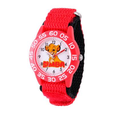 Disney Lion Guard Boys Red Strap Watch-W002132