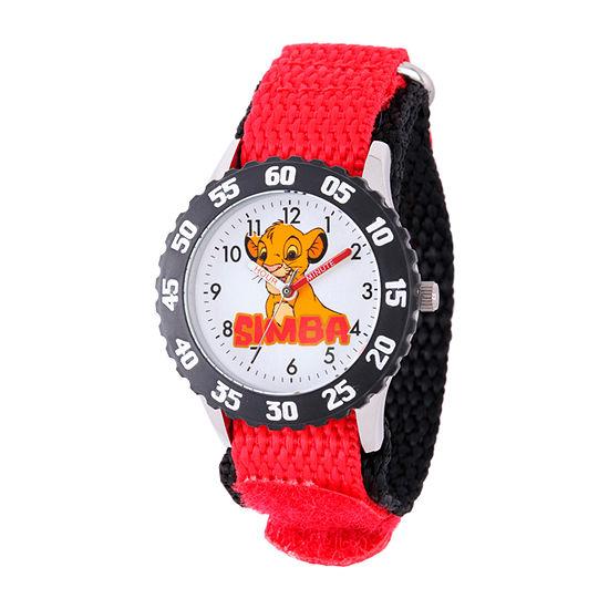 Disney Lion Guard Boys Red Strap Watch-W002134
