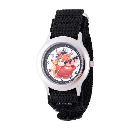 Disney Lion Guard Boys Black Strap Watch-W002135