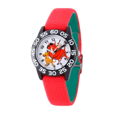 Disney The Lion King Boys Red Strap Watch-W002136