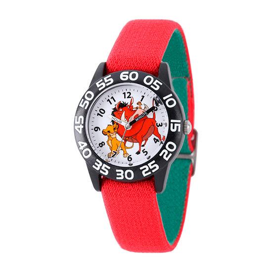 Disney The Lion King Boys Red Strap Watch W002136