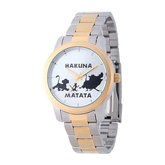 Disney The Lion King Mens Two Tone Bracelet Watch-W002140