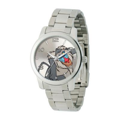 Disney The Lion King Mens Silver Tone Bracelet Watch-W002141