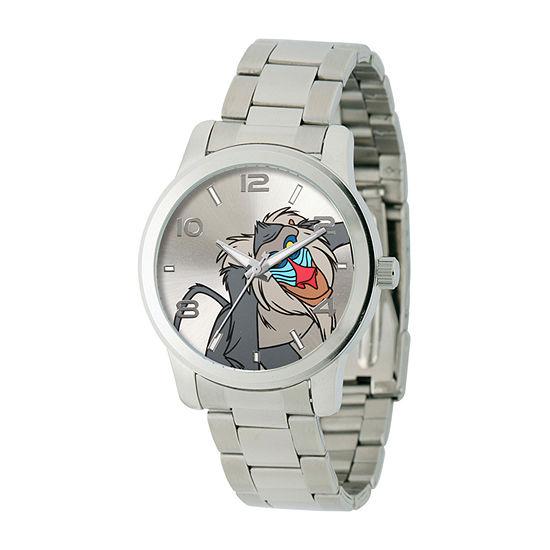 Disney The Lion King Mens Silver Tone Stainless Steel Bracelet Watch-W002141