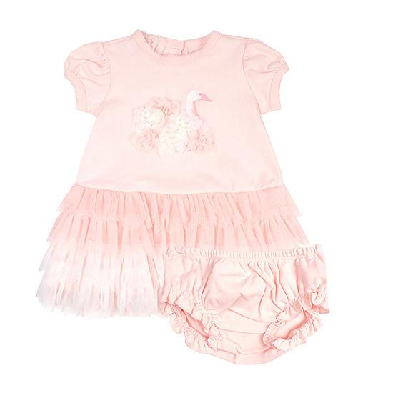 Nanette Baby Short Sleeve Tutu Dress Baby Girls