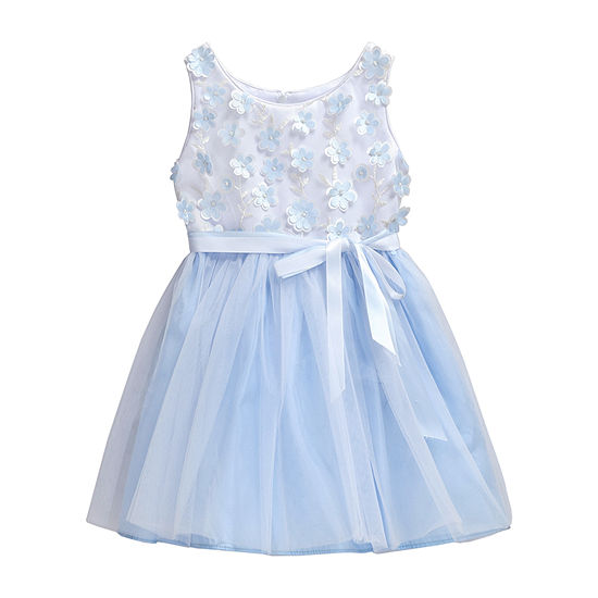 Young Land Girls Sleeveless A-Line Dress - Baby