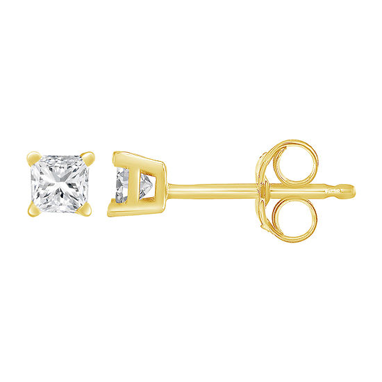 3 4 Ct Tw Genuine White Diamond 14k Gold 15mm Stud Earrings