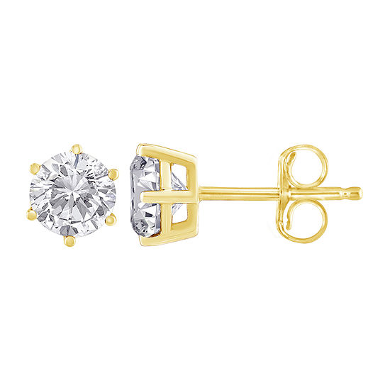 1/5 CT. T.W. Genuine White Diamond 14K Gold 2.9mm Stud Earrings