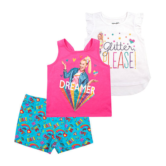 Jojo Siwa 3 Pc Short Set Preschool Big Kid Girls