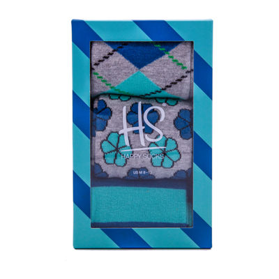 HS By Happy Socks 3 Pair Crew Socks-Mens