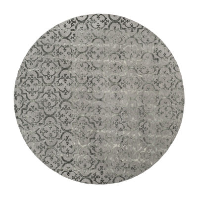 Safavieh Dip Dye Collection Aniyah Damask Round Area Rug