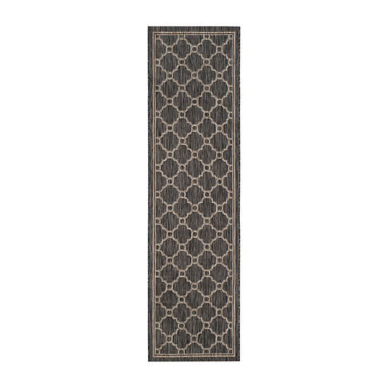 Safavieh Courtyard Collection Ian Geometric Indoor/Outdoor Runner Rug