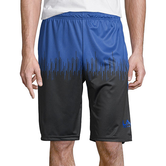 La Gear Mens Elastic Waist Workout Shorts