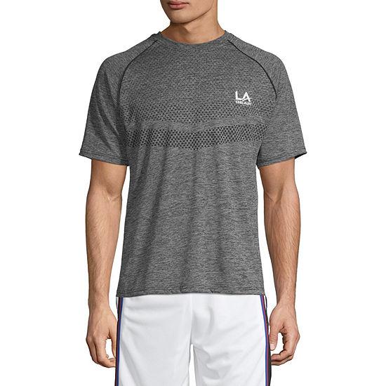La Gear Mens Crew Neck Short Sleeve Dri-Fit T-Shirt