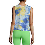 Juniors Womens Crew Neck Sleeveless Tank Top