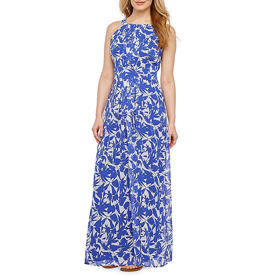Ronni Nicole Sleeveless Floral Maxi Dress-Petite