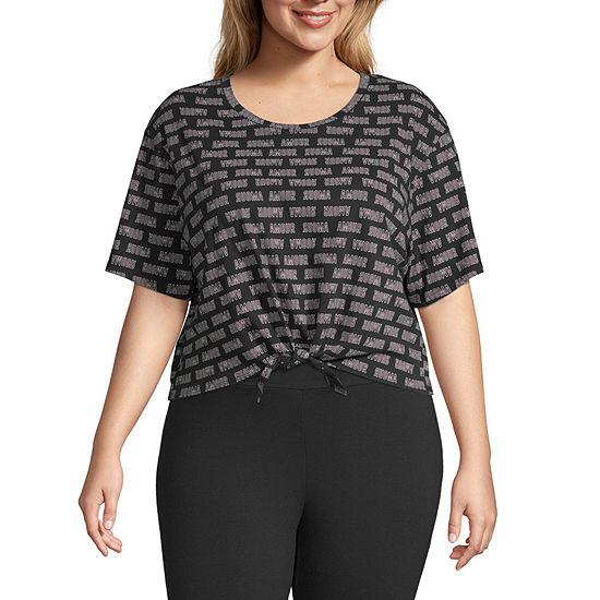 Flirtitude Womens Short Sleeve T-Shirt Juniors Plus