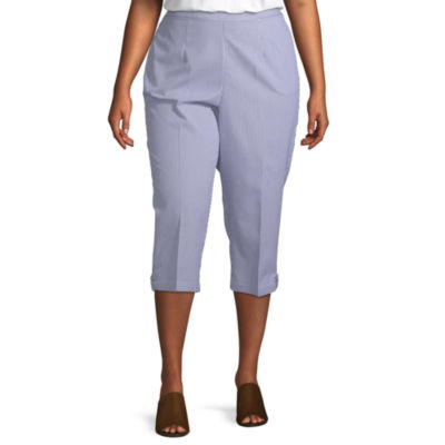 Smooth Sailing Alfred Dunner Button Tab Capri - Plus
