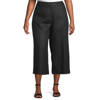 Worthington Plus Linen Crop Pants