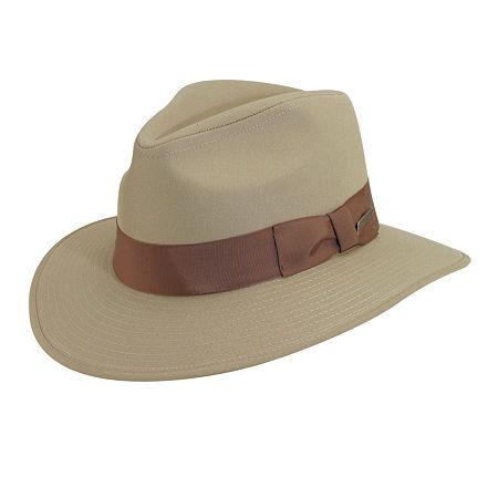 1940s Mens Hats | Fedora, Homburg, Pork Pie Hats Indiana Jones Mens Safari Hat Large  Brown $38.40 AT vintagedancer.com
