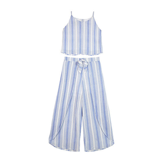 by&by girl Girls 2-pc. Striped Pant Set Big Kid