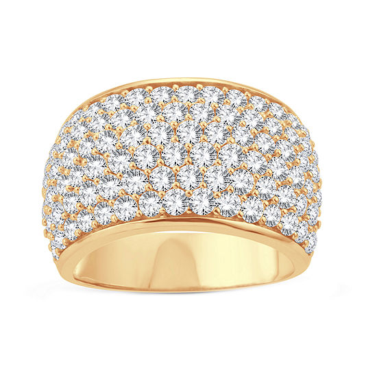Womens 3 CT. T.W. Lab Grown White Diamond 10K Gold Cocktail Ring