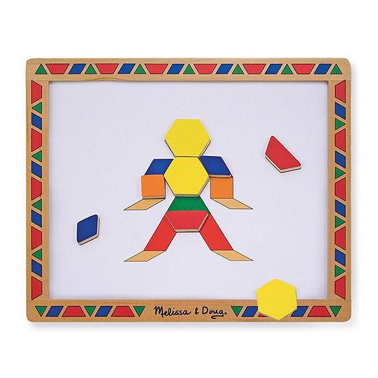 Melissa & Doug Magnetic Pattern Block Set