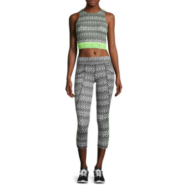 jcpenney.com | Lace Racerback Bralette or Performance Cropped Leggings