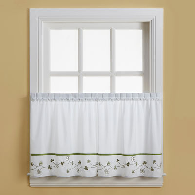 Clover Rod-Pocket Window Tiers