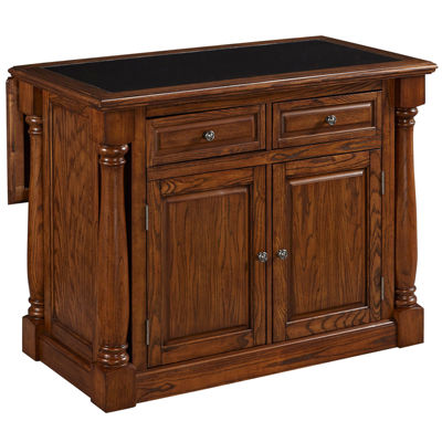 Montmarte Oak Granite-Top Kitchen Island