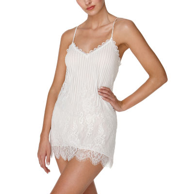 Flora By Flora Nikrooz Womens Lace Chemise Sleeveless Sweetheart Neck