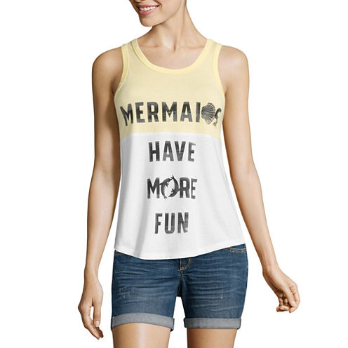 """""""Mermaids have more fun"""" Tank Top-Juniors"""