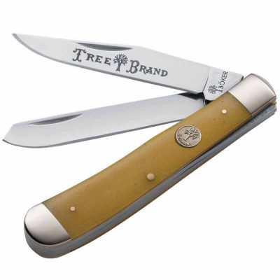 Boker Traditional Series Trapper Smooth With Yellow Bone Handle Folding Knive