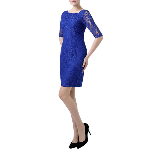 Phistic Jasmine Elbow Sleeve Sheath Dress
