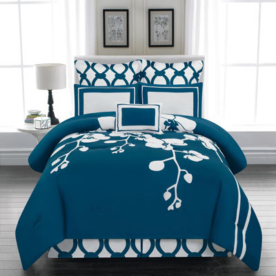 DUCK RIVER 6-pc. April Orchidea Flower ReversibleComforter Set