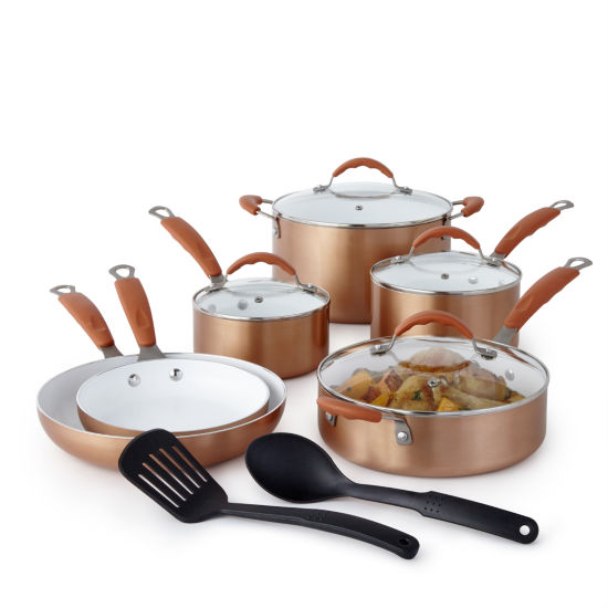 Cooks Copper 12 Pc Ceramic Cookware Set Jcpenney
