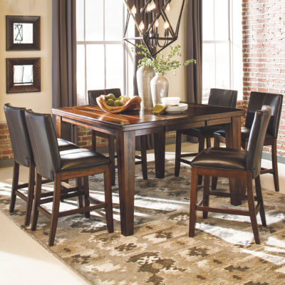 Signature Design by Ashley® Larchmont 7-Piece Counter Height Dining